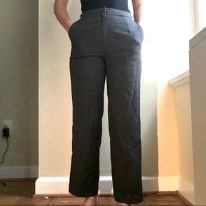 Grey Wide Leg Work Pants